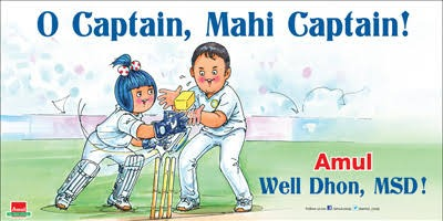 Amul - Well Done, MSD!